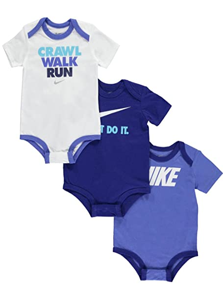 82c183a5e6 Amazon.com: NIKE Baby Boys' 3-Pack Bodysuits: Sports & Outdoors