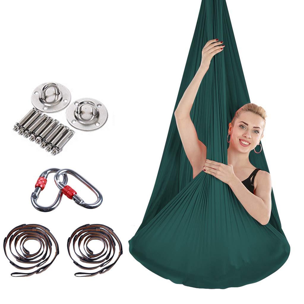 HappyTime Anti-Gravity Swing Yoga Aereo, 4 Metri x 2,8 Metri Adatto per Altezze Indoor di 2 Metri-2,6 Metri,c