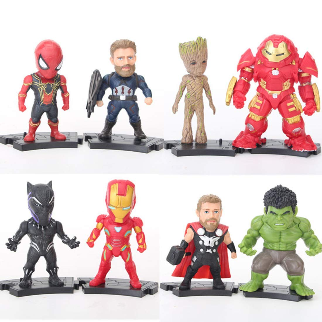 AVHERO Avengers Ultimate Super Hero Action Figures 8 Pcs Set Figures from  Infinity War Toys
