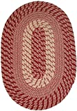 Plymouth 5′ x 8′ Braided Rug in Dk Claret Red