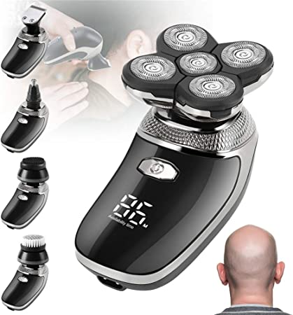 Eléctrico Cortar el pelo Hombres, Recargable Maquinilla de afeitar ...