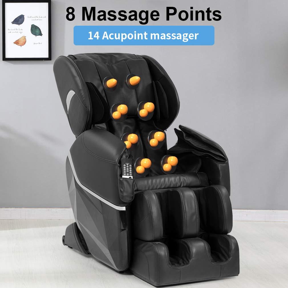 Amazon.com: Silla de masaje Shiatsu eléctrica de cuerpo ...