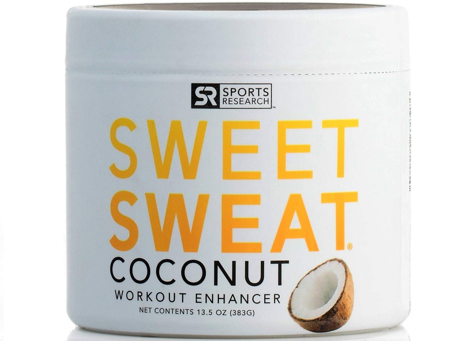 Sweet Sweat Coconut 'XL' Jar 13.5oz | Helps increase circulation, sweating and motivation during exercise | Made with Extra Virgin Organic Coconut Oil and 7 other Natural Oils