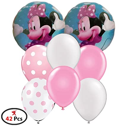 Party Propz Minnie Mouse Balloon 42 Combo 40 Balloons 2 Foil For