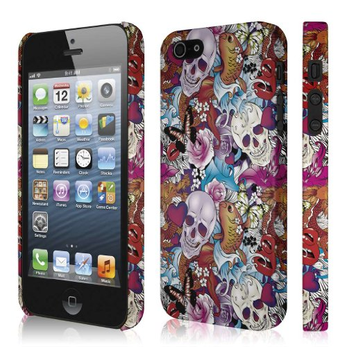 (Empire Signature Series Slim-Fit Case for Apple iPhone 5 / 5S - Retail Packaging - Tattoo Chaos)