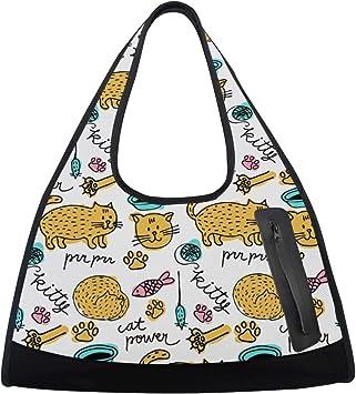 Women Sports Gym Totes Bag Multi-Function Nylon Travel Shoulder Bag