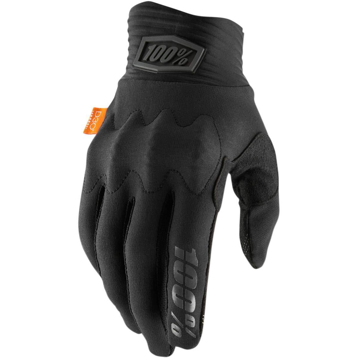 L 100/% Cognito D30 Glove Mens Black//Charcoal