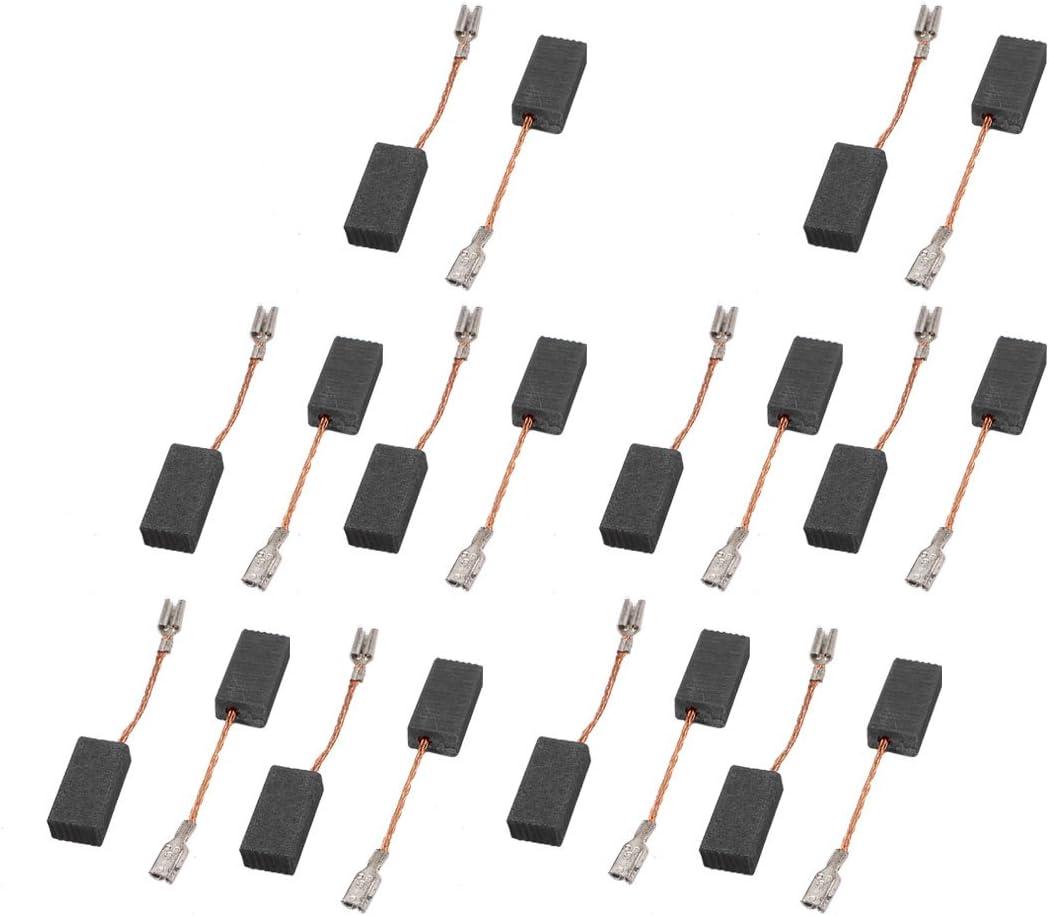 SOURCING MAP sourcingmap/® 10 Pares Escobillas de carb/ón del motor de repuesto taladro el/éctrico 5mm x 8mm x 15mm