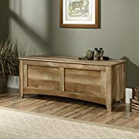 Sauder East Canyon Gun Storage Bench in Craftsman Oak