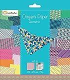 Avenue Mandarine 52501MD Une pochette Origami Paper Géométrique - 20 x 20 cm - 60 Feuilles - 70 g