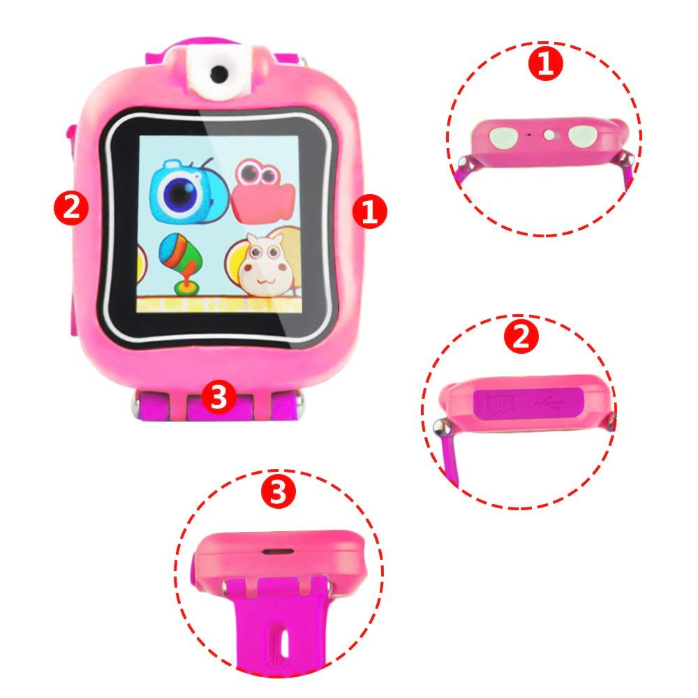 IREALIST Kids Smartwatch, Touchscreen Smart Watch with 90°Rotating Camera, Support Take Photos, Play Games, Video/Sound Recording,Timer, Alarm Clock by IREALIST (Image #5)