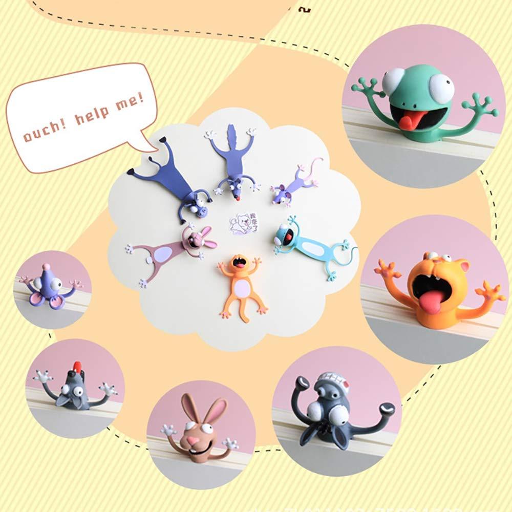 Segnalibro,Animale Segnalibro,3D Cartone Animato Animale Segnalibro Materiale PVC Divertente Cancelleria per Bambini a Scuola o Regalo per Studenti
