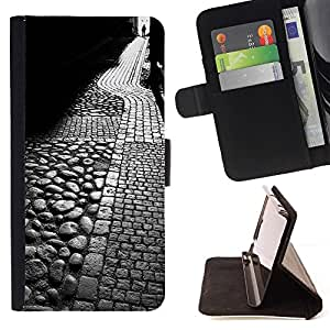 Momo Phone Case / Flip Funda de Cuero Case Cover - Medieval Calle Tallin Roma - Samsung Galaxy Note 5 5th N9200
