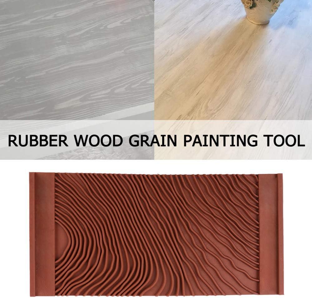 Outil de peinture en caoutchouc pour grain de bois Imitation de grain de bois Asdomo