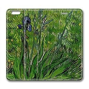 DIY Vincent Van Gogh Design Leather Case for Iphone 6 Plus Plantain