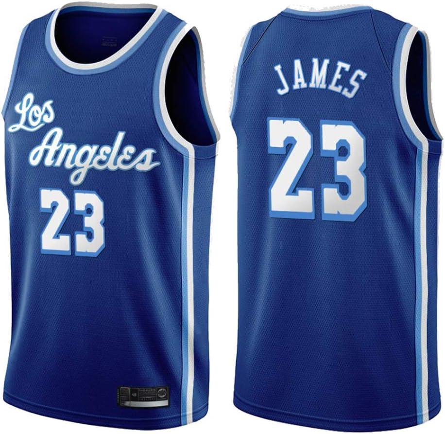 GRYUEN Maillots de Joueur de Basket-Ball Homme Maillot De Basketball Los Angeles Lakers 23# James Maillot Sportswear