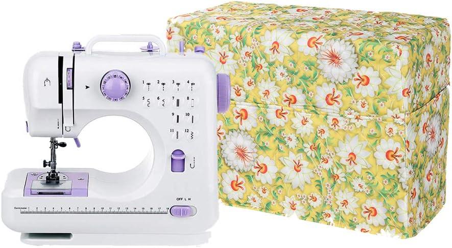 Custodia per macchina da cucire grande copertura antipolvere adatta alla maggior parte delle macchine da cucire Brother Singer in tessuto trapuntato con tasca portaoggetti