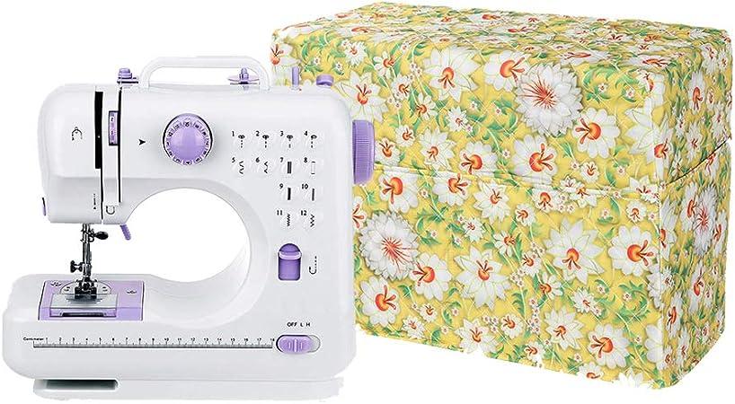 Funda para máquina de coser, cubierta para polvo grande, se adapta a la mayoría de máquinas Singer estándar Brother, bolsa de almacenamiento de costura con bolsillo ...