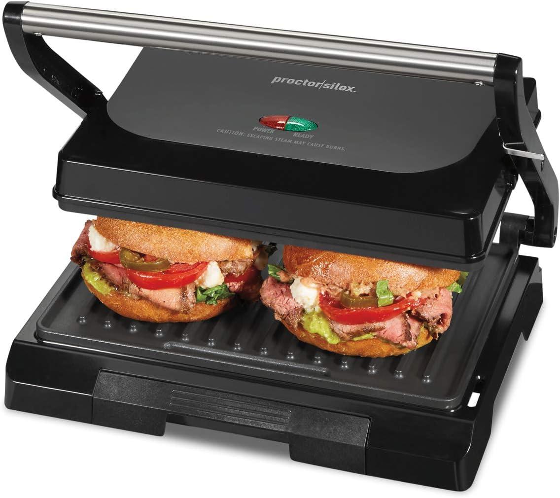 Proctor Silex Panini Sandwich Press Black 25440psc 4 Serving Proctor Silex Amazon Ca Home Kitchen