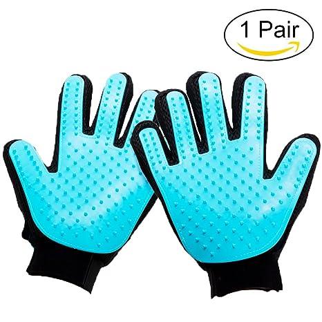 yardky 1 par de guantes de aseo para gatos y perros mascotas peluquería animal removedor de