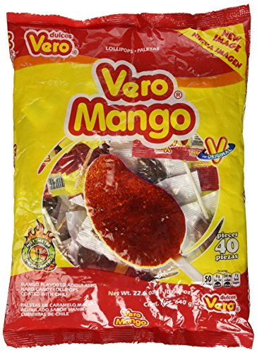 Vero Mango Con Chile - Pack of 40- (22.6 oz.)(1 lb. 6.6 oz.)