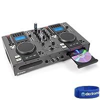 Twin Top CD Decks Player Mobile DJ Disco Party Mixer USB MP3 2 Channel STX-95