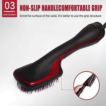 2-en-1 multi-función de peine de secador de pelo eléctrico,