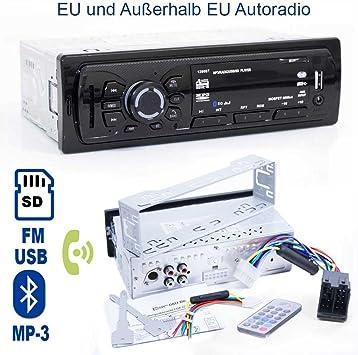 Radio de coche con reproductor de mp3 player – Tarjeta SD y USB ...