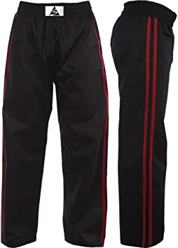 Cimac Satin Kickboxing Trousers Adult Kids Striped Martial Arts Training Pants