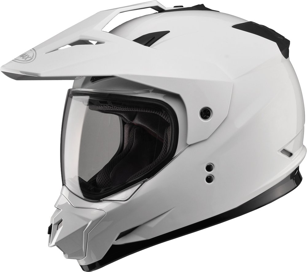 Gmax GM11D Dual Sport Full Face Helmet (White, Large)