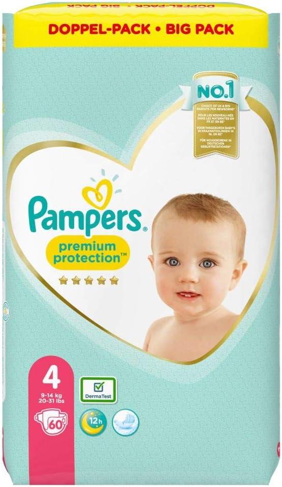 60 Windeln 9kg-14kg Pampers Premium Protection Gr/ö/ße 4