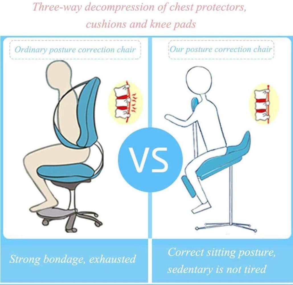 Stol knänande, ergonomisk knäböjning hållning pall hem lärande hållning sittande kan höjas och sänks justerbar kreativ barn lärande säte, rosa, färg: blå gRÖN