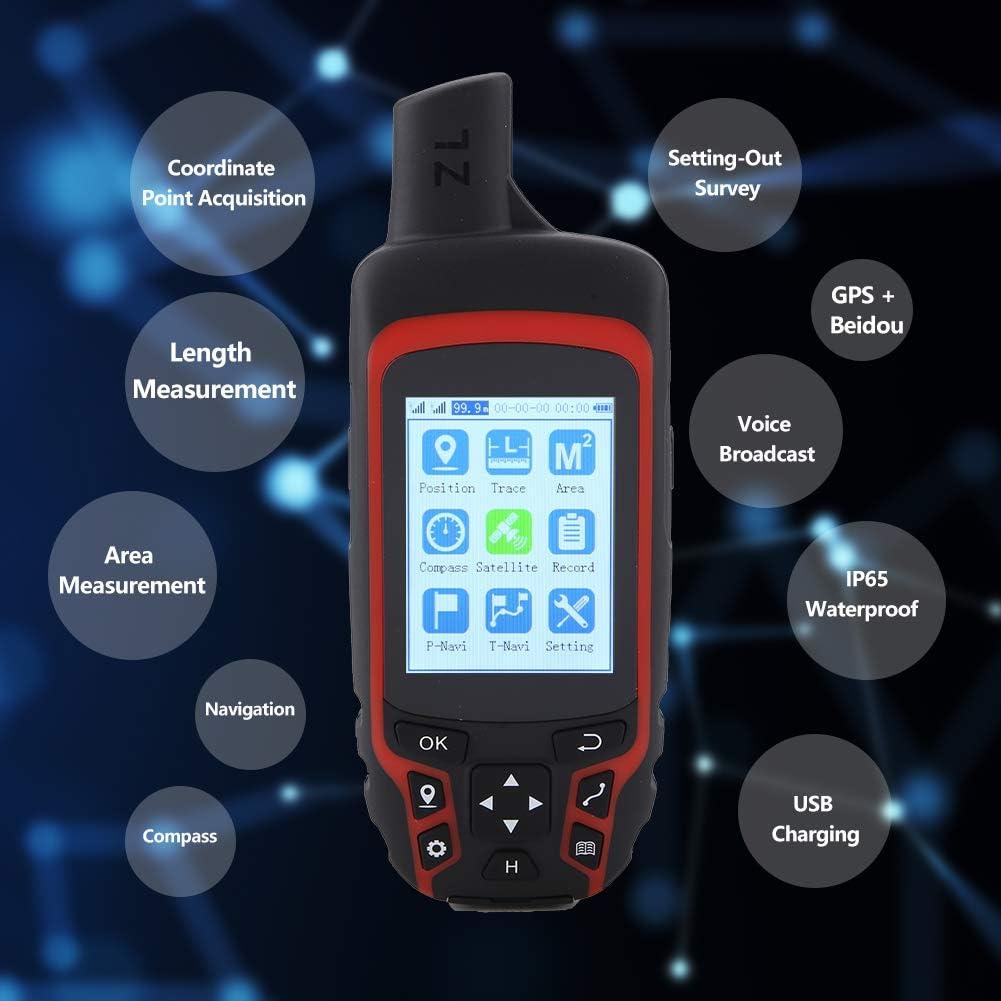 AC110V US Plug Handheld GPS Navigation Walfront Handheld GPS A6 Handheld Navigator Outdoor Handheld GPS Navigation USB Rechargeable Hiking GPS Locator Tracker