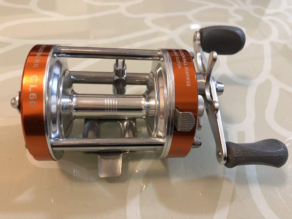 Mingyang リール オレンジ CL60 ベイトキャスティングリール 2+1 BB 右利き用 釣り用具比 4.2:1 マスキー キャットフィッシュ 海水釣り   B07PYNDNTK