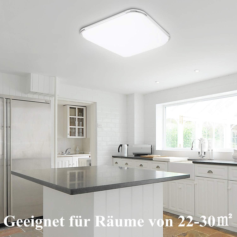36W lamparas de techo habitacion Moderna LED Plaf/ón para Sala de Estar Ba/ño Dormitorio Cocina Balc/ón Pasillo Comedor IP44 Hengda Plafon led de techo Blanco frio