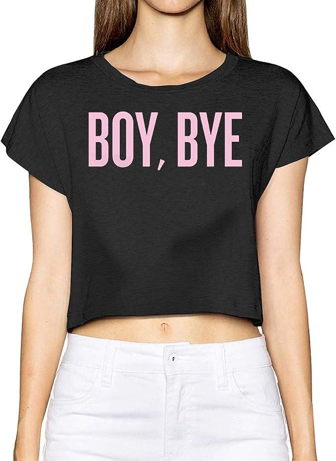 Boy Bye - Camiseta básica de Manga Corta para Mujer, Cuello ...