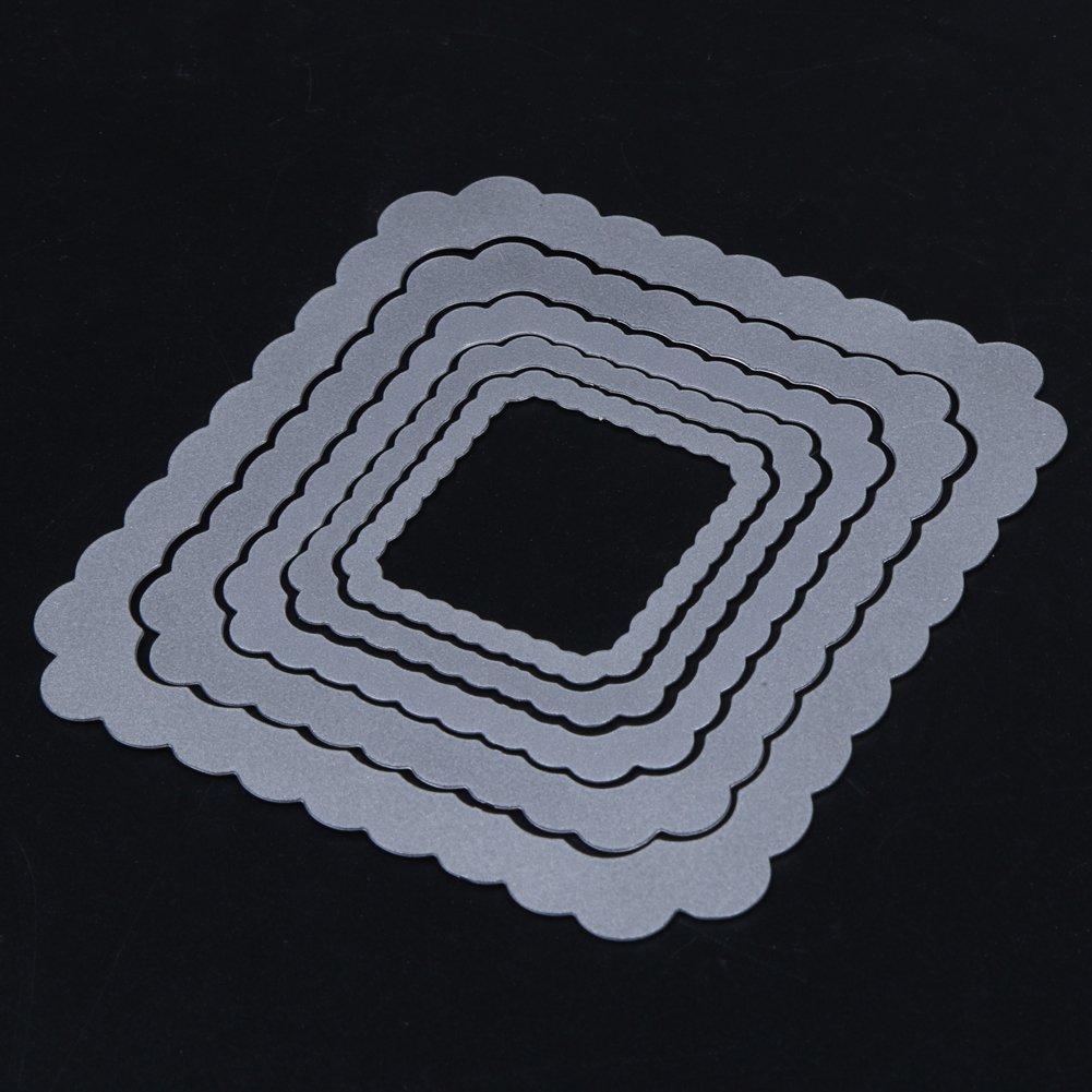 01 Demiawaking 5 Star quadrato Fustelle Stencil per DIY Scrapbooking album biglietti per goffratura modello