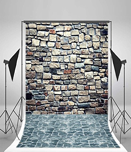 Leyiyi Brick Wall Vinyl Photo Background Personal Photo Photography Studio Retro Photography Background Wood Flooring 3x5ft
