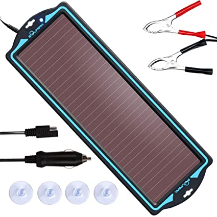 SOLPERK 12V Solar Panel,Solar trickle Charger,Solar Battery Charger and Maintainer,Suitable for Automotive, Motorcycle, Boat, ATV,Marine, RV, Trailer, ...