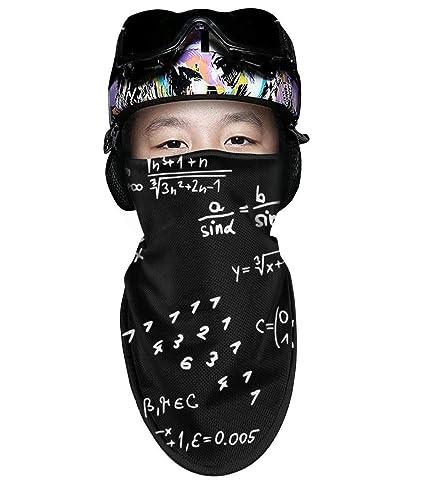 Amazon.com   Mackiintion Math Wallpaper Black Backdrop Winter Face ... 0b5a07a724c