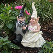 """8""""H Wedding Bride and Groom Love Couple Gnome Home and Garden Statue Figurine"""
