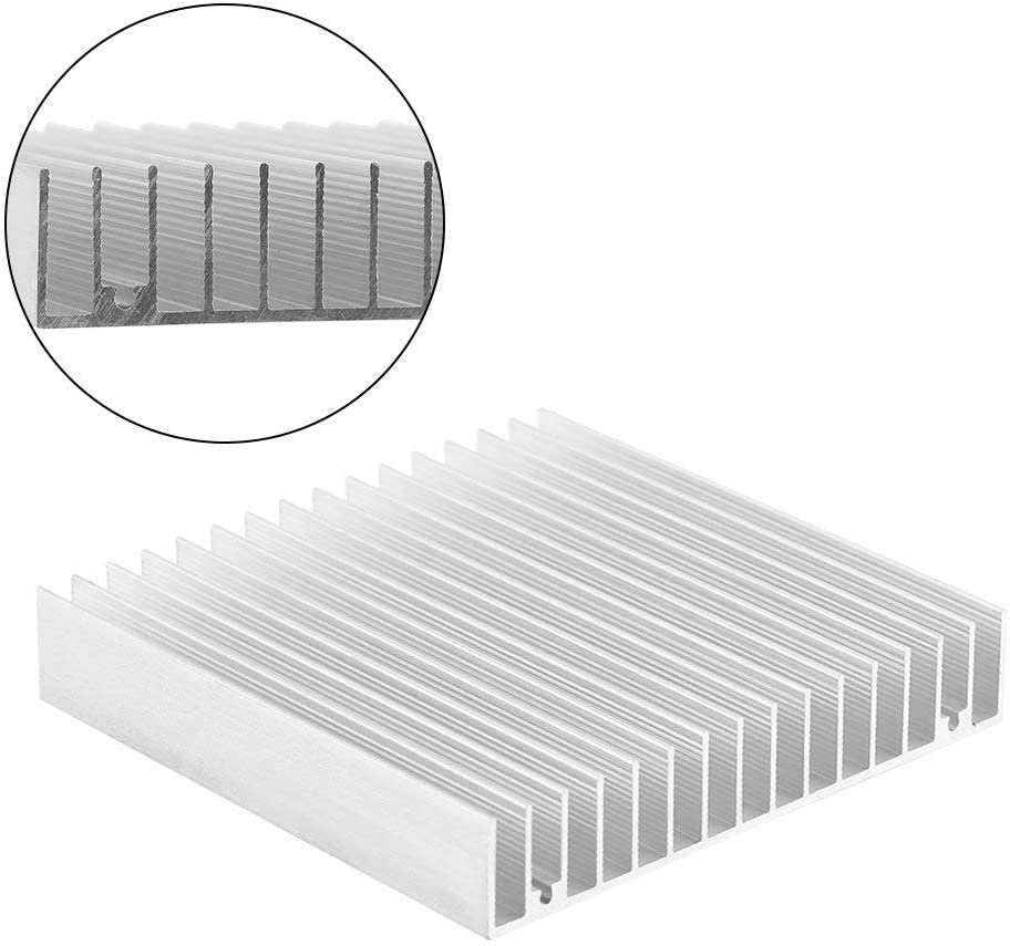 Electrical Facilities Computer Aluminum Heat Sink Heatsink Module 4.73 x 3.95 x 0.72inch Perforated Heat Sink Cooler with Hole Fit for Electronic