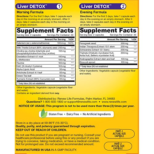 Renew Life Liver Detox - liver detox and cleanse supplement - 30 day - 120 vegetable capsules by Renew Life (Image #1)