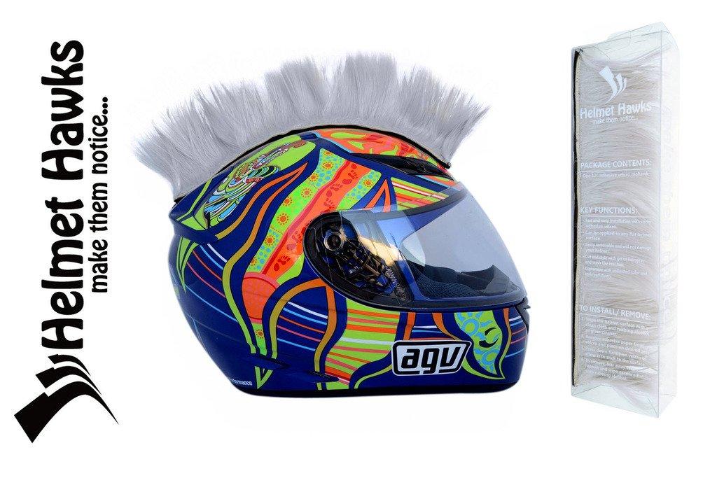 Helmet Hawks Motorcycle Helmet Mohawk w/Sticky Hook and Loop Fastener Adhesive (Seahawk Blue-Green) CaliBikerClub HH-SS38