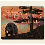 Night at the Lodge 15 x 11.5 inch Tempered Glass Cutting Board