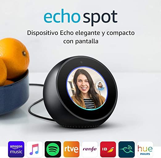 Amazon Echo Spot - Reloj despertador inteligente con Alexa,