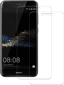 POOPHUNS 2-Unidades Cristal Templado Huawei P8 Lite 2017, Protector de Pantalla Cristal Vidrio Templado Premium para Huawei P8 Lite 2017,9H Vidrio Real No se despega uellas Dactilares Libre: Amazon.es: Electrónica