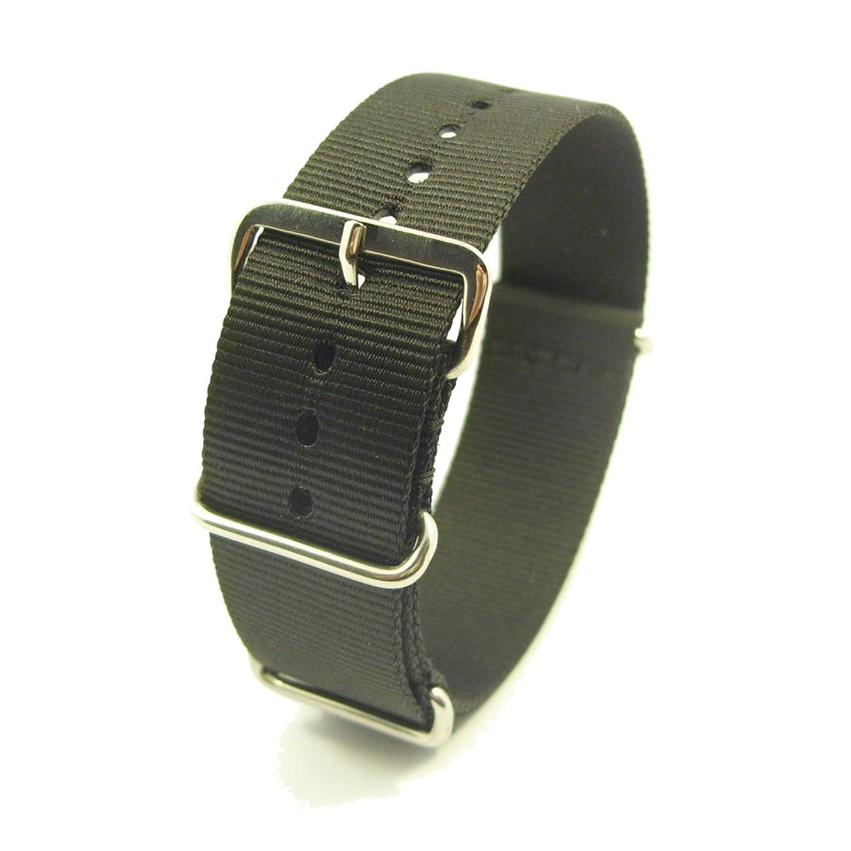 Zeitpunkt-Nylondurchzugsband schwarz 22 mm