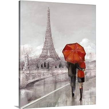 Ruane Manning Premium Thick-Wrap Canvas Wall Art Print Entitled Modern Couple in Paris 24 x30