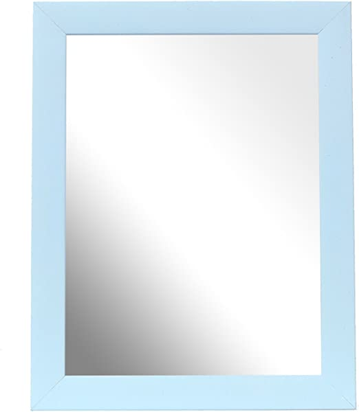 Imagen deInov8 - Espejo (25,4 x 20,3 cm, Fabricado en Reino Unido, 2 Unidades), Color Amarillo, Azul Celeste, 8x6 Pulgadas